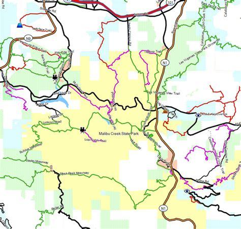 creek state park trail map malibu creek sp california trail map
