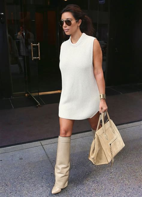 kim kardashian style 2012 kim kardashian style white dress white boots