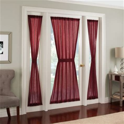 side panel window curtains crushed voile rod pocket side light window curtain panel