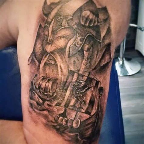tribal viking tattoos 70 viking tattoos for germanic norse seafarer designs