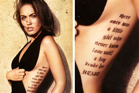 Angelina Jolie Rib Tattoo | megan fox pictures megan fox tattoos and their meanings