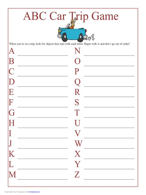 printable games for in the car printable paper 811 free templates in pdf word excel
