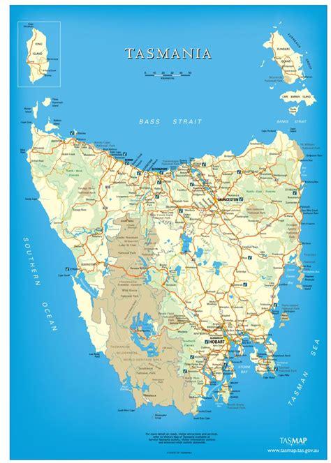 printable road map of tasmania explor with autorent map of tasmania autorent hertz