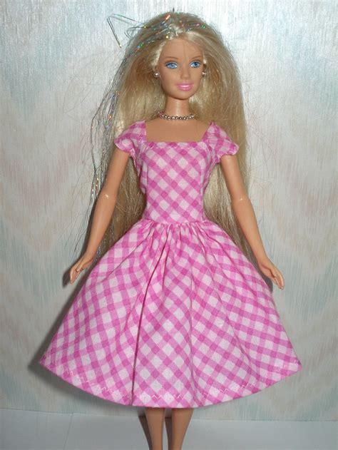 Clothes Handmade - handmade doll clothes pink plaid dress