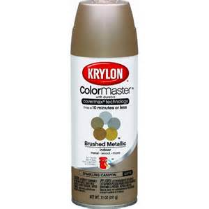 krylon colormaster brushed metallic satin spray paint ebay