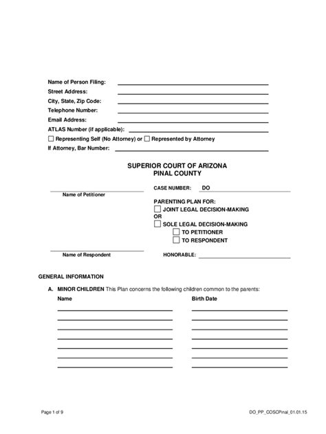 Divorce Forms 266 Free Templates In Pdf Word Excel Download Divorce Parenting Plan Template