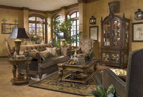traditional living room set enchanting aico living room michael amini vizcaya dusted umber finish traditional