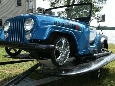 panther jeep boat jeep jet ski boat wrangler cj outboard one in the world