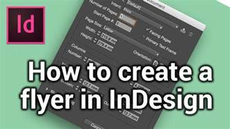 how to design a modern how to create a new page make a flyer in indesign 1 6