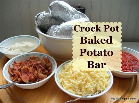 Baked Potato Toppings Bar by Crock Pot Baked Potato