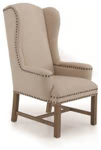 high back accent chair amiens high back wing accent chair traditional