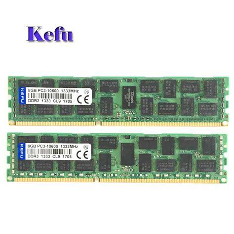 Memory Ram Server V Ddr3 8 Gb Pc 10600 12800 Murah 2x8gb pc3 10600r ddr3 1333mhz ecc memory reg registered 240 pin ram 2rx4 server memory in rams