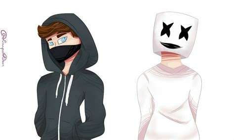alan walker x marshmello alan walker and marshmello by limpid deer on deviantart