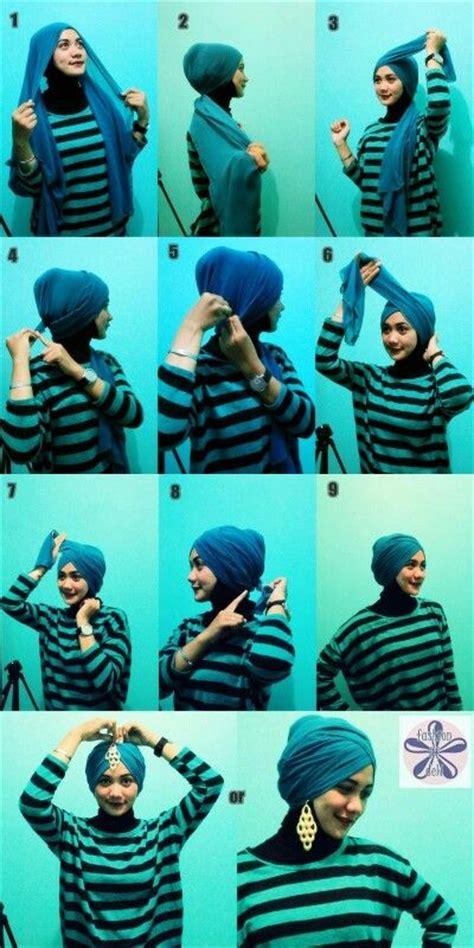 tutorial hijab turban modern 2015 tutorial hijab modern turban terbaru paling praktis