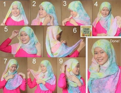 tutorial hijab segi empat layer segi empat hijab tutorial full of fashion 2016 17