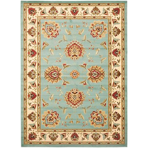 8 X 12 Area Rug Safavieh Lyndhurst Blue Ivory 8 Ft 9 In X 12 Ft Area Rug Lnh555 6512 9 The Home Depot