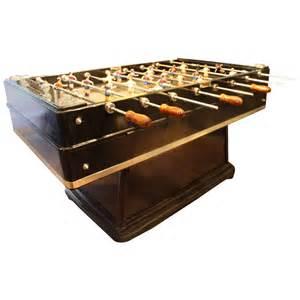 mid century modern large black foosball table at 1stdibs