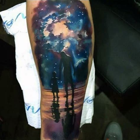 night sky tattoo sweet themed colored and sky