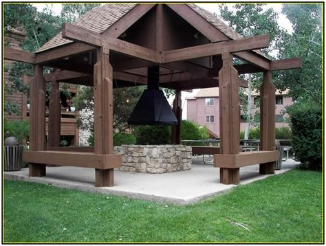 classic outdoor gazebo designs with pit idea picture