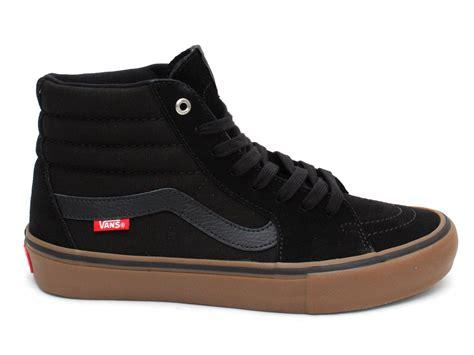 bmx shoes vans quot sk8 hi pro quot shoes black gum kunstform bmx shop