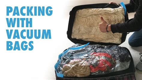 vacuum travel bag vacuum bags for travel packing with vacuum bags youtube
