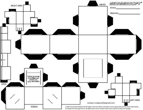 Papercraft Printable Templates - cubee blank template regular by njr75003 on deviantart