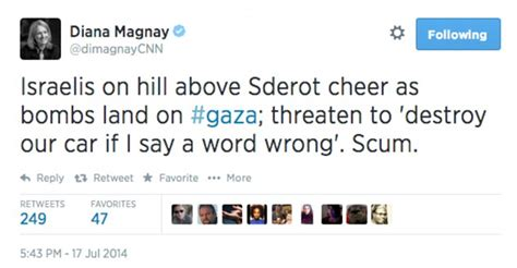 cnn reporter calls israelis who gathered to watch gaza cnn reporter removed from israel gaza after branding