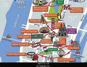 New York City Map With Tourist Attractions by Holiday Maps Of Nyc World Map Photos And Images