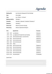 Management Meeting Template by Management Team Meeting Agenda Template Template