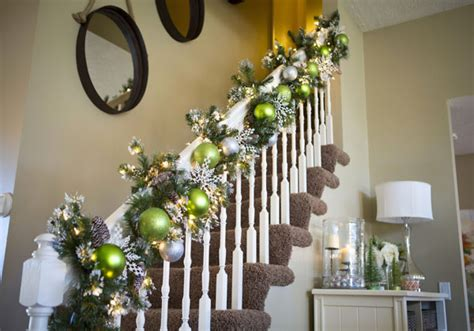 decoration for a banister christmas banister decorations 33 all about christmas