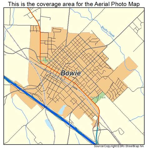 bowie texas map aerial photography map of bowie tx texas