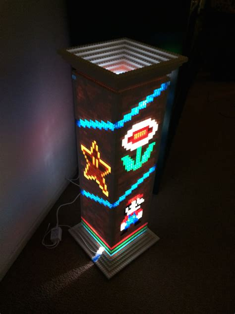 Basement Game Room - 1 up your lights with a super mario bros lego lamp nerdist