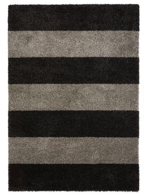 teppich gelb schwarz benuta hochflor shaggy teppich graphic stripe blau gelb