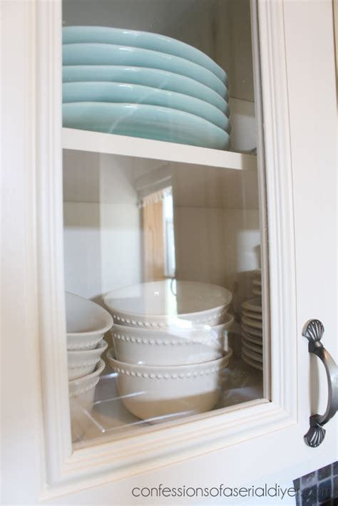 How To Add Glass To A Cabinet Door How To Add Glass To Cabinet Doors Confessions Of A Serial Do It Yourselfer
