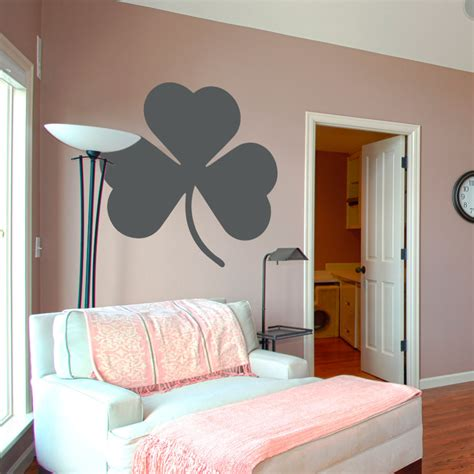 large wall decals for bedroom wall decals for guest bedroom ideas with large shamrock