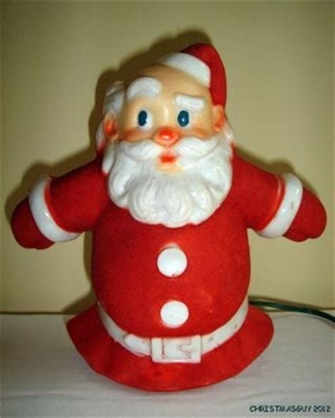 vintage glolite santa glo lighted christmas tree topper