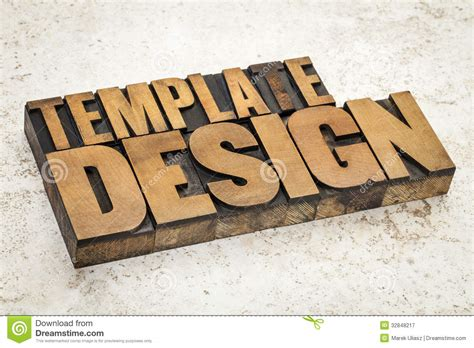 typography on wood template design in wood type royalty free stock
