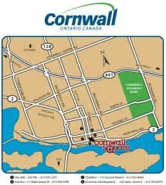map of cornwall ontario canada cornwall ontario map