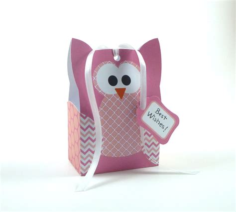 printable owl goodie bag printable diy owl gift bag template pink owl party favor