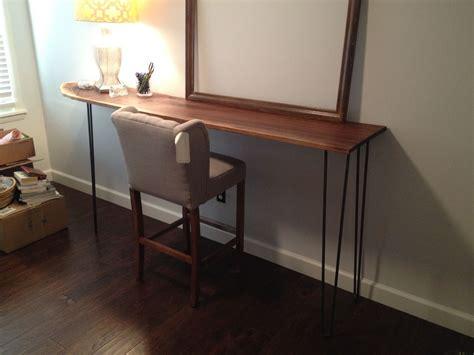 custom  hairpin leg standing desk  gypsum valley