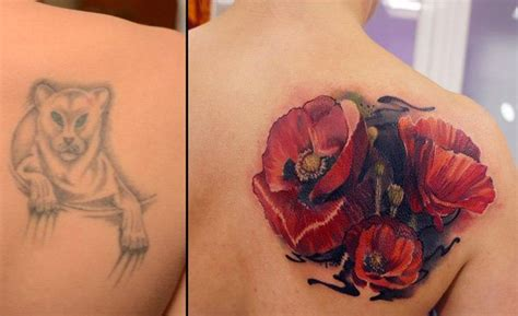 cover up flower tattoos 57 cover up before and after