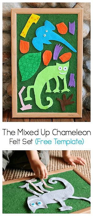 eric carle chameleon template the mixed up chameleon felt set free pattern buggy and