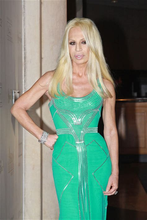 Donatella Says More Skirts more pics of donatella versace evening dress 7 of 14