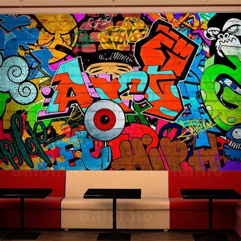 graffiti wall mural wallpaper non woven photo wall mural print graffiti 10110905 7 ebay