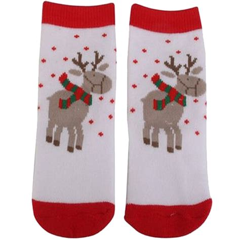 reindeer pattern socks 1 pair reindeer pattern child christmas socks q1l5 ebay