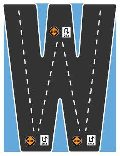 printable highway letters drive the alphabet highway letter n road collection
