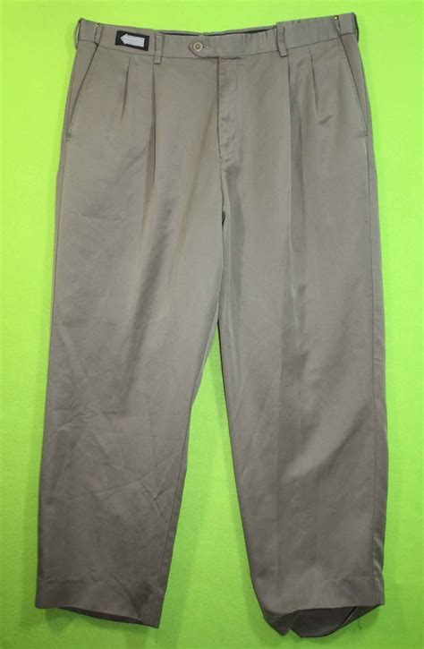 savane comfort waist pants savane comfort plus waistband sz 38 x 28 mens brown dress