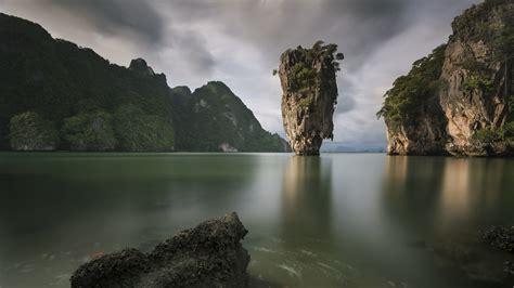 james bond island  phang nga bay thailand windows