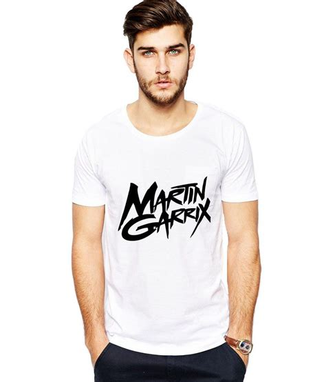 Kaos Martin Garrix 3 Black ilyk martin garrix white printed t shirt available at