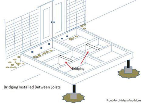 Bridging Between Floor Joists by Porch Flooring Porch Decking Materials Building A Porch